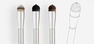 Tip and Blend foundation brush