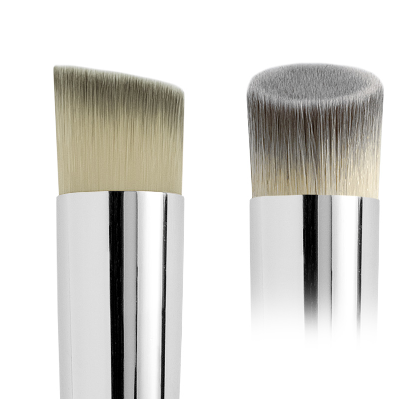 ANGLED ROUND SYNTHETIC FOUNDATION BRUSH