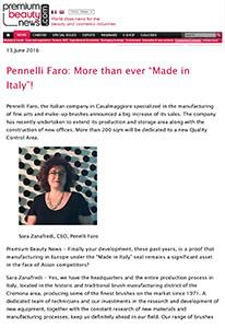 "Pennelli Faro: More than ever ""Made in Italy""! on Premium Beauty News"