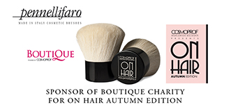 Pennelli Faro sponsor of Cosmoprof Boutique Charity for On Hair Autumn Edition