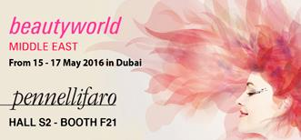 Pennelli Faro at Beautyworld Middle East 2016 in Dubai