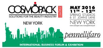 Pennelli Faro at Cosmopack New York 2016 - The International Business Forum & Exhibition