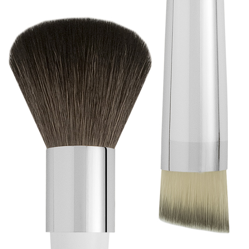 ROUND GOAT AND SYNTHETIC FACE BRUSH